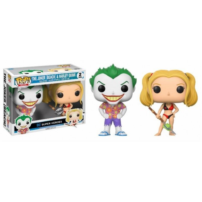 Funko Pop! DC Comics - Beach Joker & Harley Exclusive