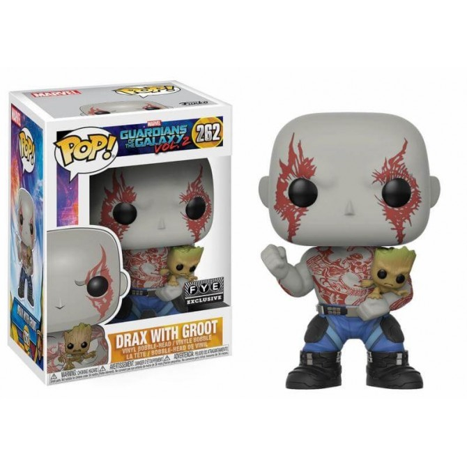 Funko Pop! Marvel: Guardians of The Galaxy 2 - Drax with Groot Limited Edition