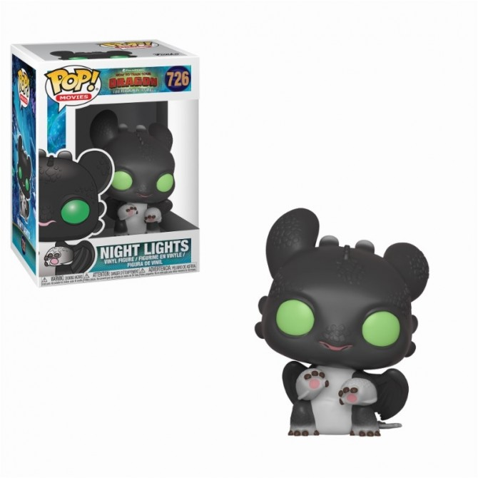Funko Pop! How To Train Your Dragon 3 - Night Lights (Black with Green Eyes)
