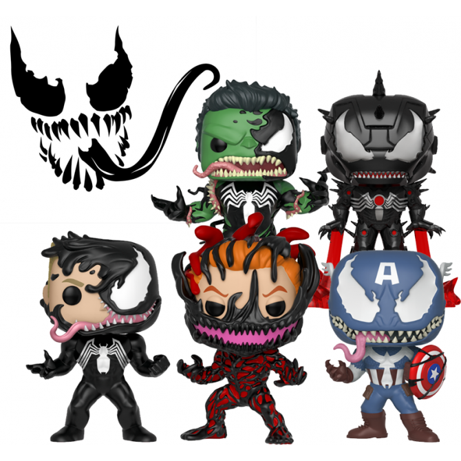 Funko Pop! Marvel Venom Set