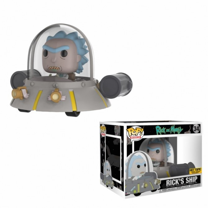 Funko Pop! Rides: Rick & Morty - Space Cruiser / Rick's Ship Limited Edition