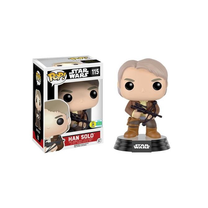 Funko Pop! Star Wars The Force Awakensm- Han Solo Bowcaster SDCC Limited Edition