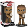Funko Pop! Wobbler: Star Wars The Last Jedi - Chewbacca With Porg