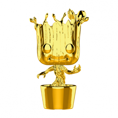 Funko Pop! Marvel Studios 10 - Groot (Chrome)